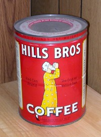 osama bin laden on hills brothers coffee can
