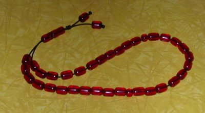 red faturan greek worry beads
