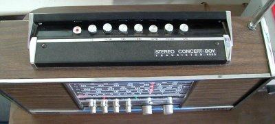 grundig stereo concert-boy transistor 4000 radio top view