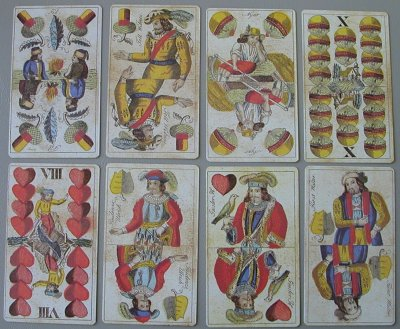 1860s reprint hungarian cards